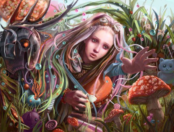 Laura Sava anotherwanderer deviantart ilustrações fantasia belas mulheres Terra dos cogumelos