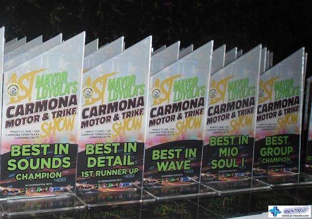 Custom Acrylic Awards - Carmona Motor & Trike Show