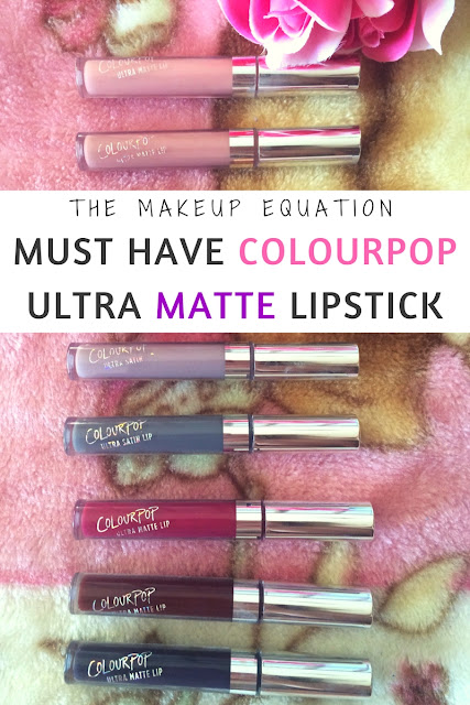 Must Have ColourPop Ultra Matte Lipsticks