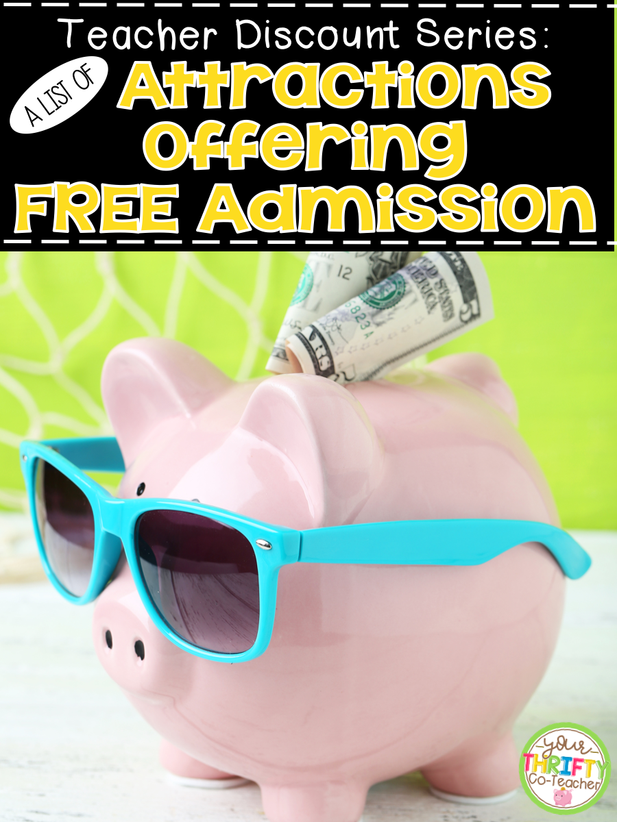 Teacher Discount Free Admission To Attractions Your Thrifty Co Teachherpleaseblogspotcom Teachers Please Feel Leave It Below In The Comments For Fellow After All Like We Tell Kids Sharing Is Caring