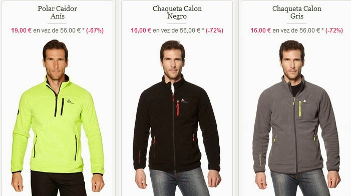 Ejemplos de jerséis y chaquetas polares para hombres