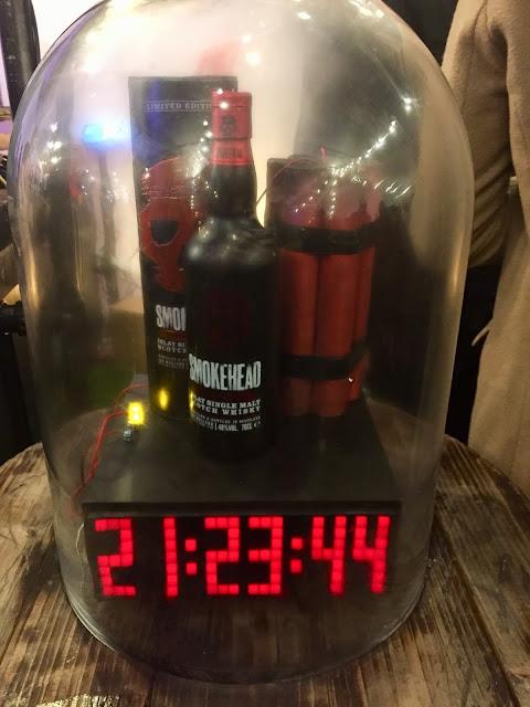 Smokehead Whisky pop up bar at Edinburgh Cocktail Village