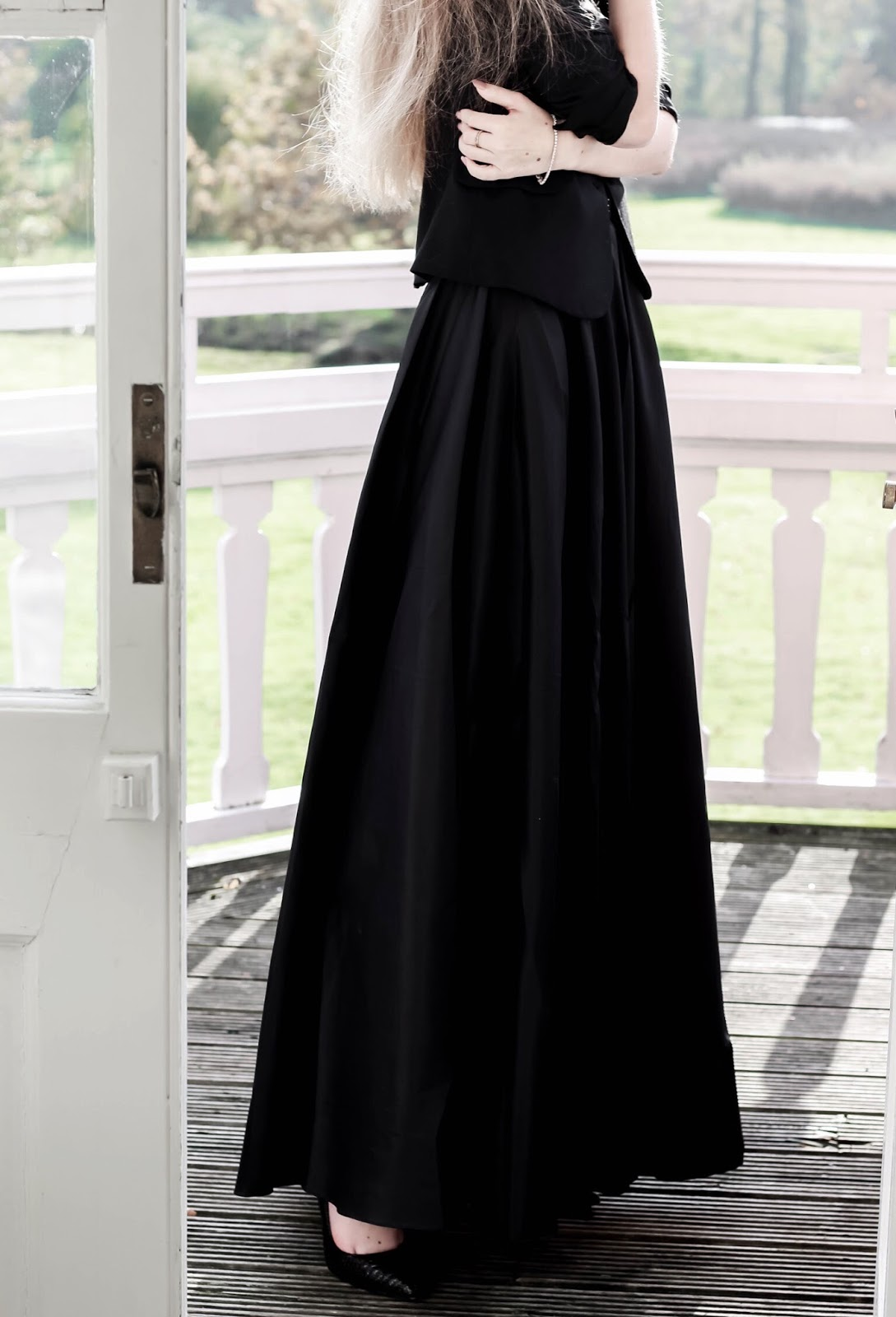 NYE Styling Black Taffeta Maxi Skirt