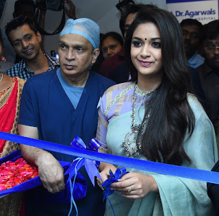 Keerthy Suresh with Cute and Lovely Smile in Dr Agarwals Eye Hospital Opening 2