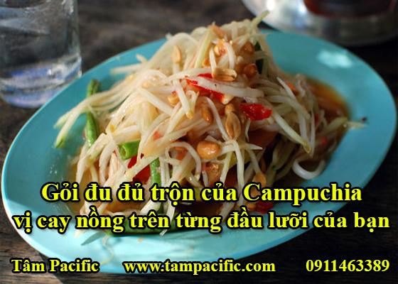 Gỏi đu đủ trộn của Campuchia vị cay nồng trên từng đầu lưỡi của bạn