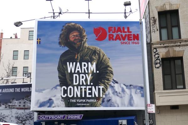 Fjall Raven Parka billboard NYC