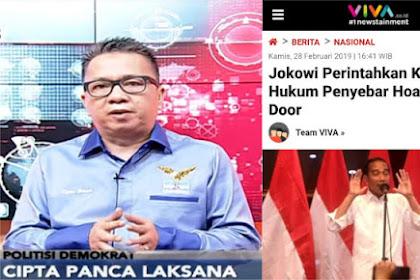 Jokowi Perintahkan Kapolri Hukum Penyebar Hoax Door to Door, Ini Tanggapan Politisi Demokrat