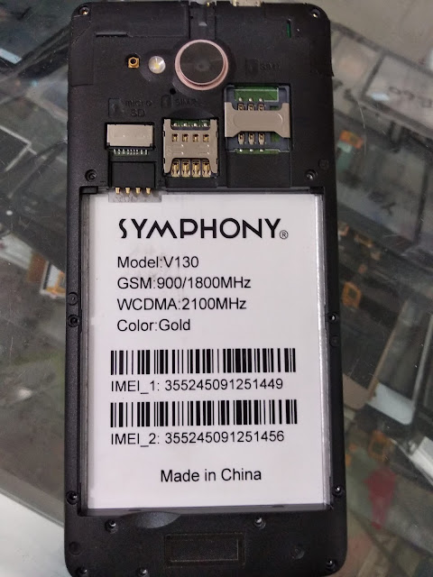 symphony V130 flash file without password Hang Logo Fix 100