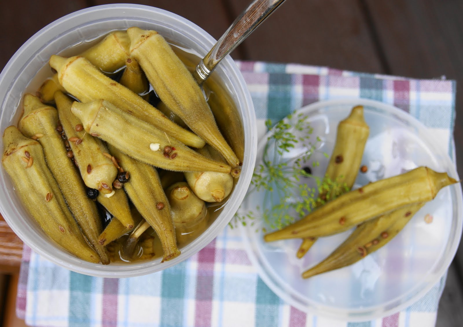 Spicy Pickled Okra ... no canning required   The Kitchen ...