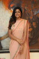 Eesha Rebba in beautiful peach saree at Darshakudu pre release ~  Exclusive Celebrities Galleries 071.JPG