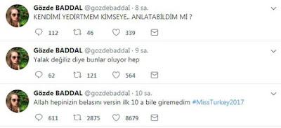 """Gozde Baddal, asaltată fiind de reporteri a spus: """"Contul nu-mi aparține""""."""