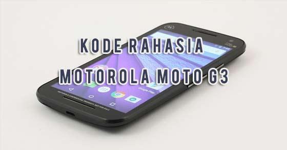 Kode diam-diam Tersembunyi gres Motorola Moto G3