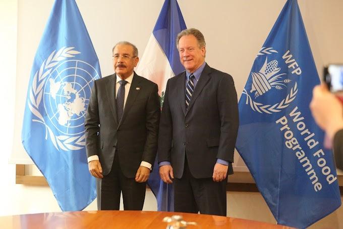 En Roma, presidente Danilo Medina sostiene bilateral con director ejecutivo Programa Mundial Alimentos, David Beasley