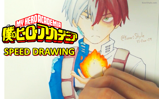 Koori Style, KooriStyle, My hero academia, boku no hero academia, anime, fanart, Cute, Kawaii, Drawing, Dibujo, Speed, Painting, Paint, Copic, Markers, Sketch, todoroki, shouto