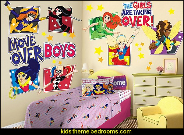 DC Super Hero Girls Wall Decals