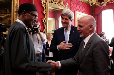 After Nigeria and Afghanistan being described as two fantastically corrupt countries by Cameron the  Afghanistan President, Ashraf Ghani and Buhari met at the corruption summit