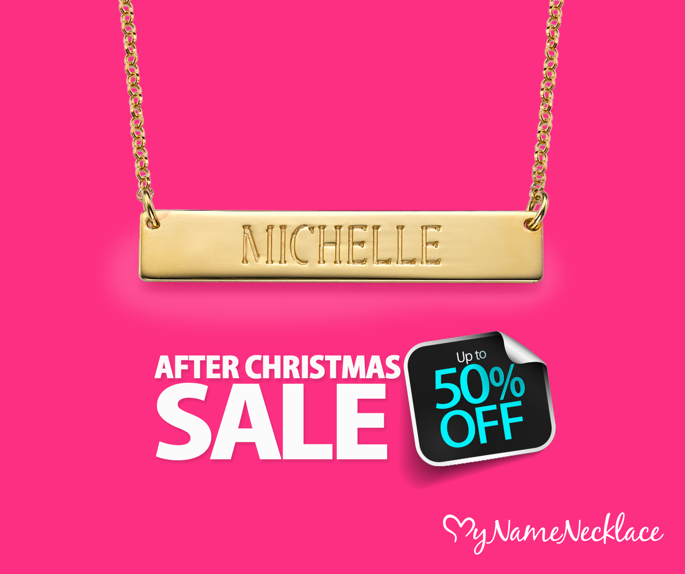 MyNameNecklace After Christmas Sale