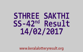 STHREE SAKTHI SS 42 Lottery Results 14-02-2017