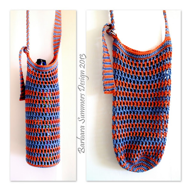 free crochet patterns, how to crochet, water bottle carrier,