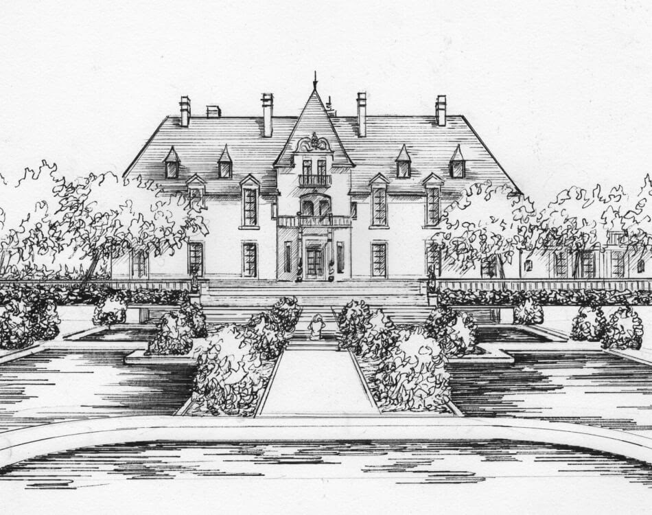 02-Wedding-Venue-Portrait-in-Ink-Mary-Frances-Smith-Architecture-Expressed-in-House-Drawings-www-designstack-co