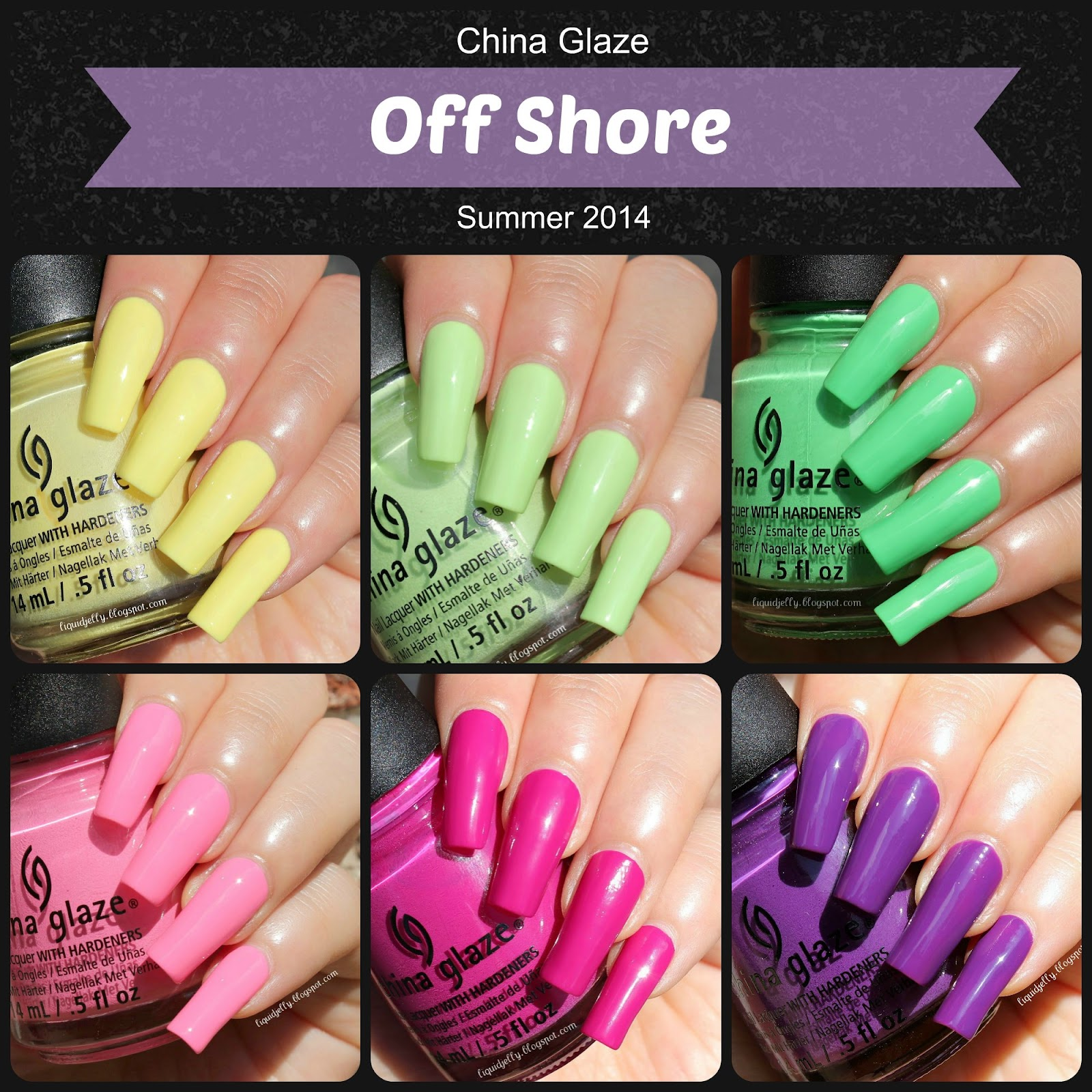 Liquid Jelly: [Review+Swatch] China Glaze Off Shore Collection