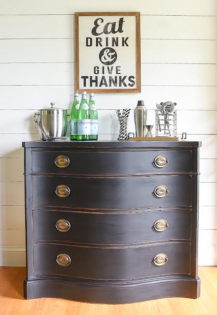 Small Drexel buffet makeover