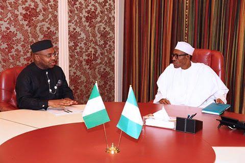 Photos: Akwa Ibom State Gov. Emmanuel Udom pays a visit to Pres. Buhari