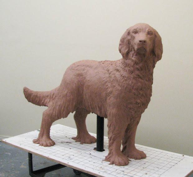 Clay Dog Sculptures