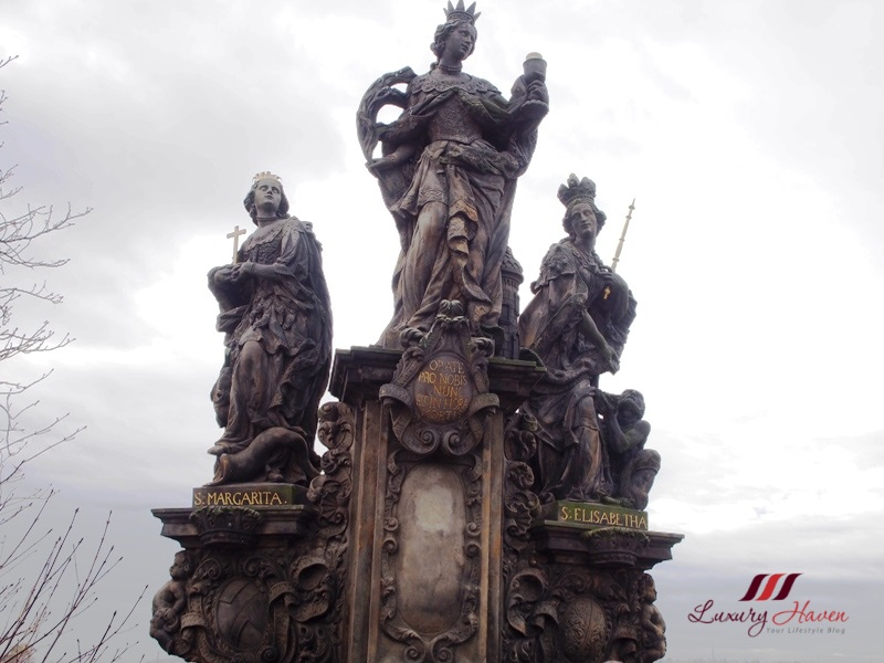 prague charles bridge statues st barbara margaret elizabeth
