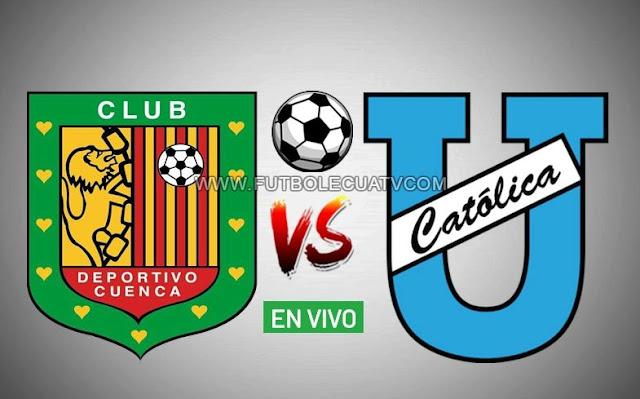 Deportivo Cuenca y Universidad Católica se enfrentan en vivo desde las 19h15 hora local por la fecha tres del campeonato nacional a realizarse en el estadio Alejandro Serrano Aguilar, con arbitraje principal de Juan Andrade emitido por el medio autorizado GolTV Ecuador.