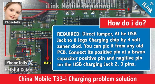 China Mobile T33-i Charging problem solution - Phonetolls
