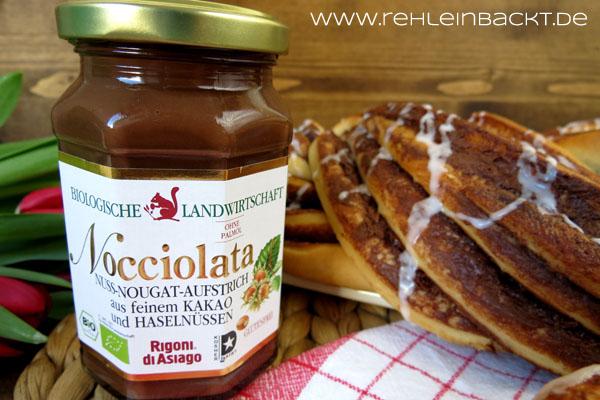 Nuss-Nougat-Hefezopf mit Nocciolata| Foodblog rehlein backt