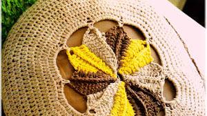 Almohadón ~ Cojín Tricolor Crochet / Paso a paso
