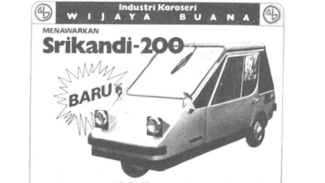 Srikandi 200 3 roda Indonesia