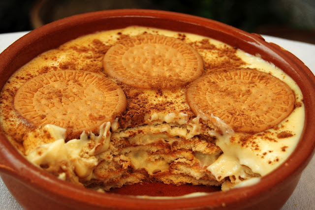 Natillas con Galletas