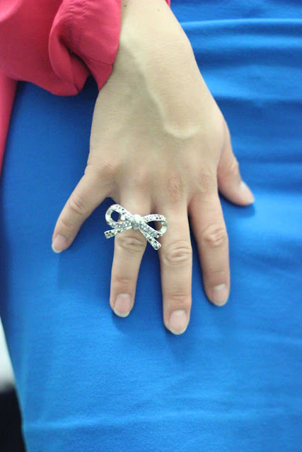 Forever 21 Pave Bow Ring