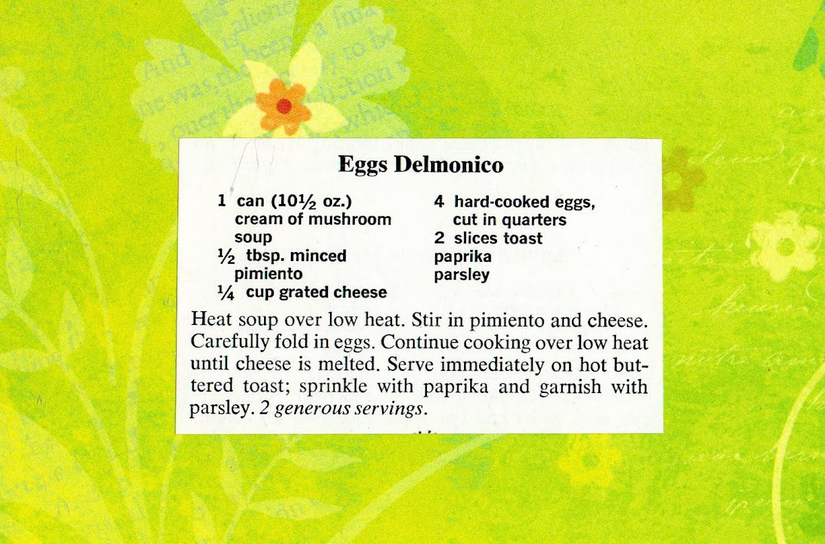 Eggs Delmonico (quick recipe)