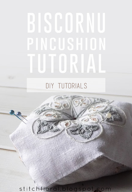 DIY Biscornu tutorial