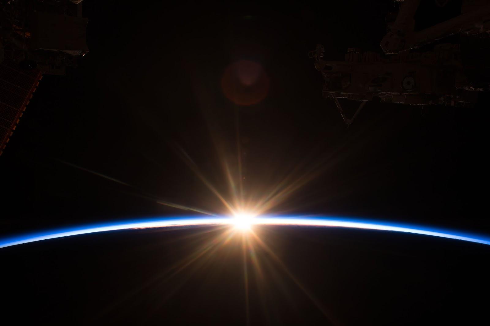 sunrise from international space station - photo #2