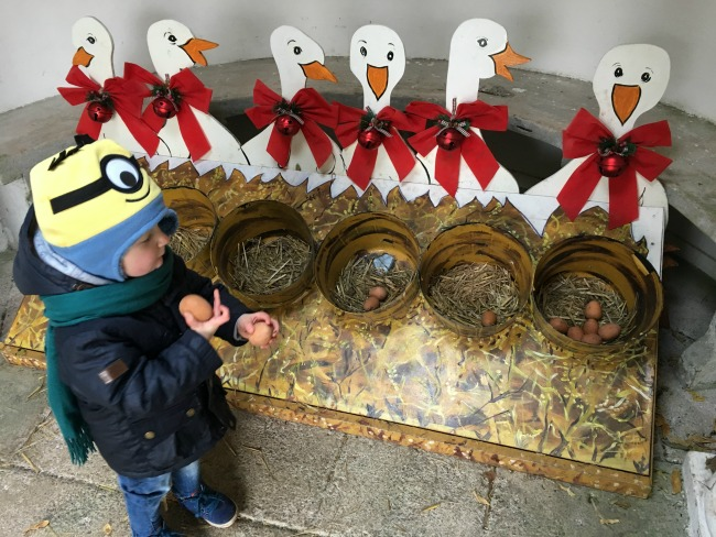 #MySundayPhoto-number-49-toddler-with-6-geese-a-laying