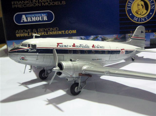 Brunel Hobbies: Franklin Mint DC3 TAA and Ansett on Special