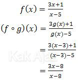Fungsi komposisi f(g(x))
