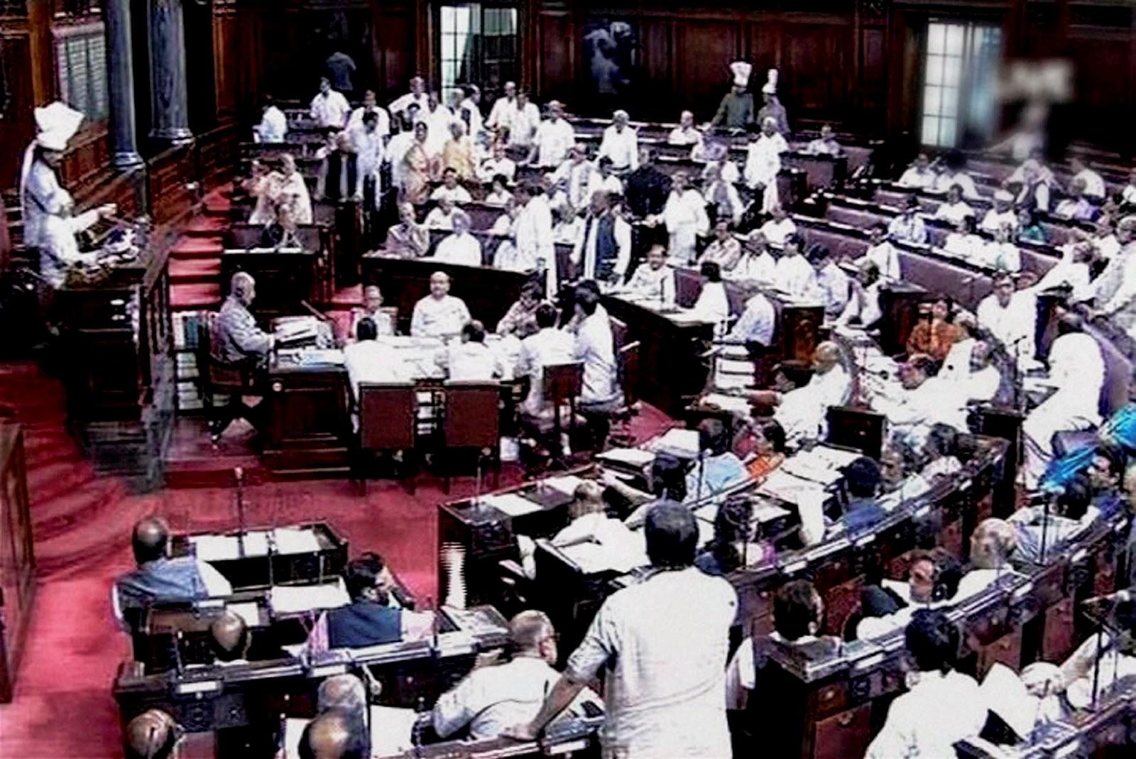 राज्यसभा भारतीय लोकतंत्र की ऊपरी प्रतिनिधि सभा है। लोकसभा निचली प्रतिनिधि सभा है।