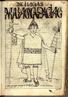 Manco Cápac dibujo de Felipe Guaman Poma de Ayala
