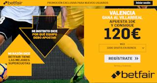 betfair supercuota europa league Valencia gana al Villareal 11 abril 2019