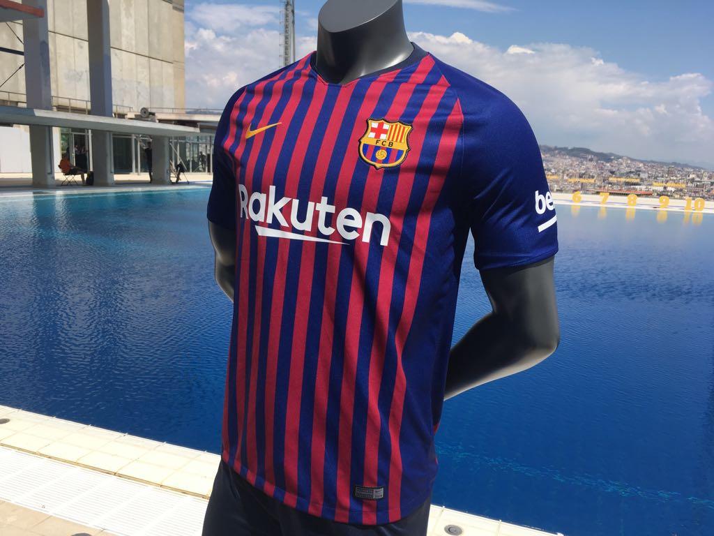196f1cc1b Barcelona - Home Short Sleeve Jersey. Order Here  http   bit.ly 2DpiLaX. Free  Shipping Worldwide!