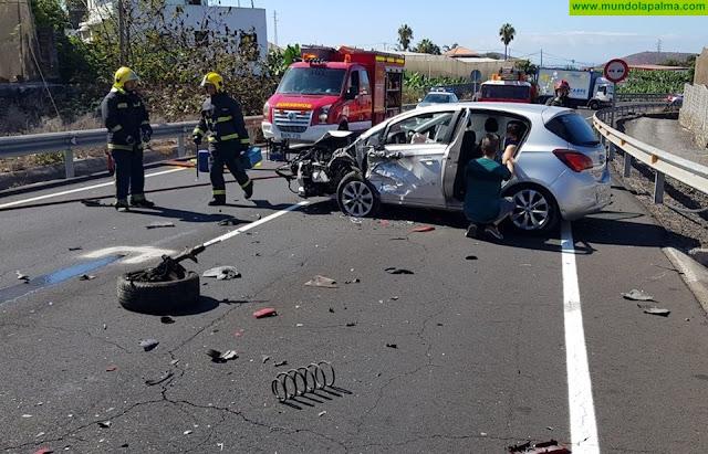 Tres heridos en un accidente de tráfico en Los Llanos de Aridane