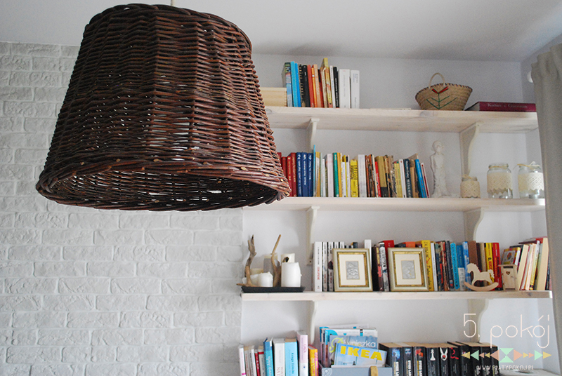 lampa DIY | wikluna | kosze wiklinowe