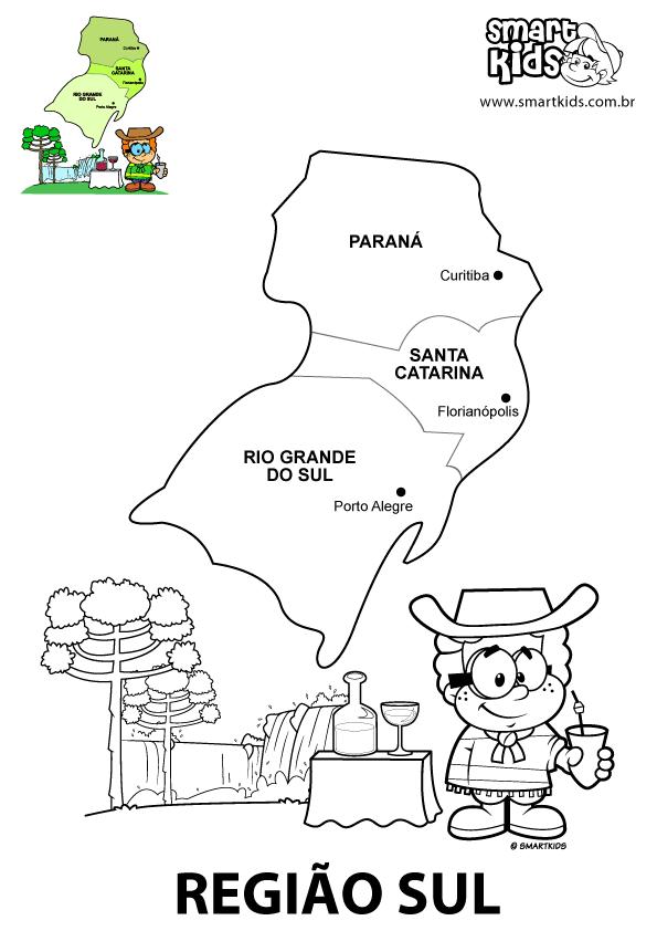 Aparador Wengue Y Plata ~ Unidos pela educaç u00e3o por um mundo melhor MAPA REGIÃO SUL