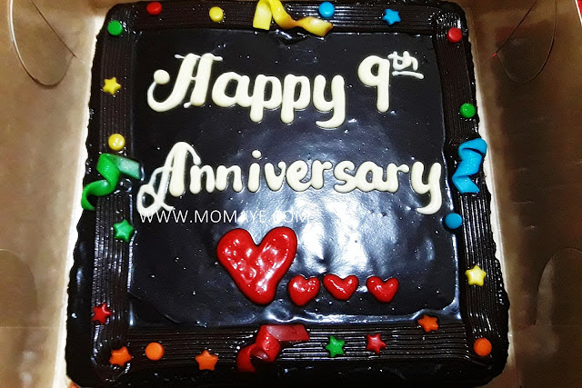 Red Ribbon, Dedication cake, chocolate cake